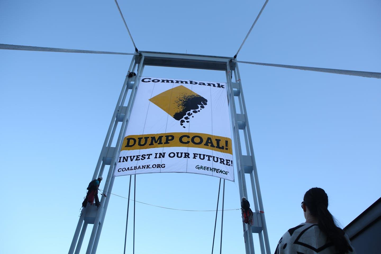 greenpeace commbank coal protest