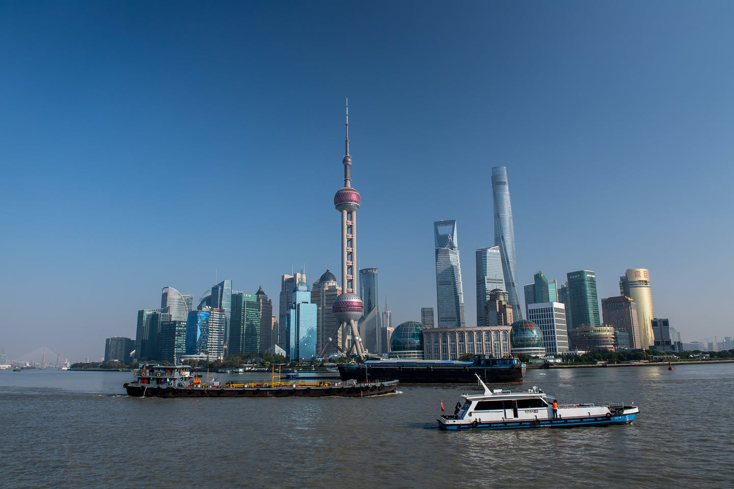 downtown shanghai china view