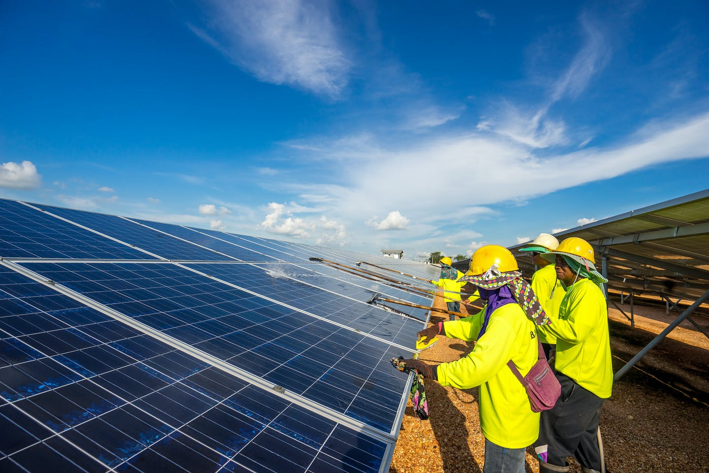 maintaining solar panels in Thailand