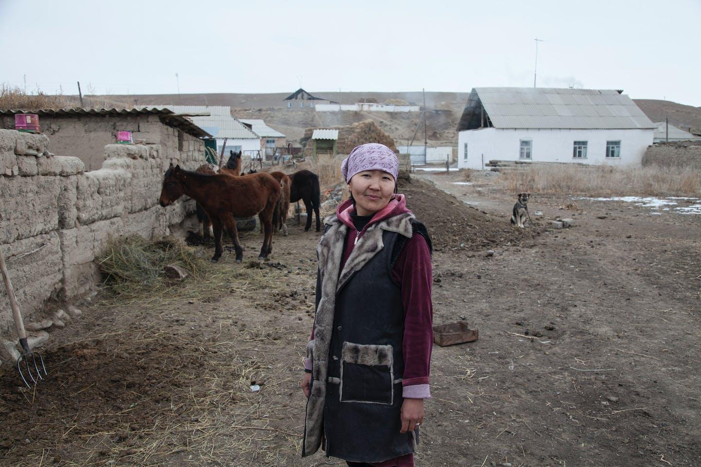 Nurjan Toktomambetova, is a member of self-help group of women entrepreneurs