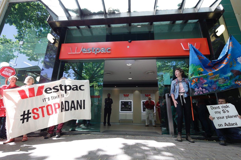 westpac adani protests