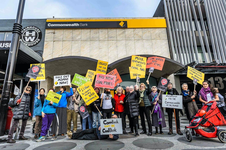 commbank fossil fuel protestors
