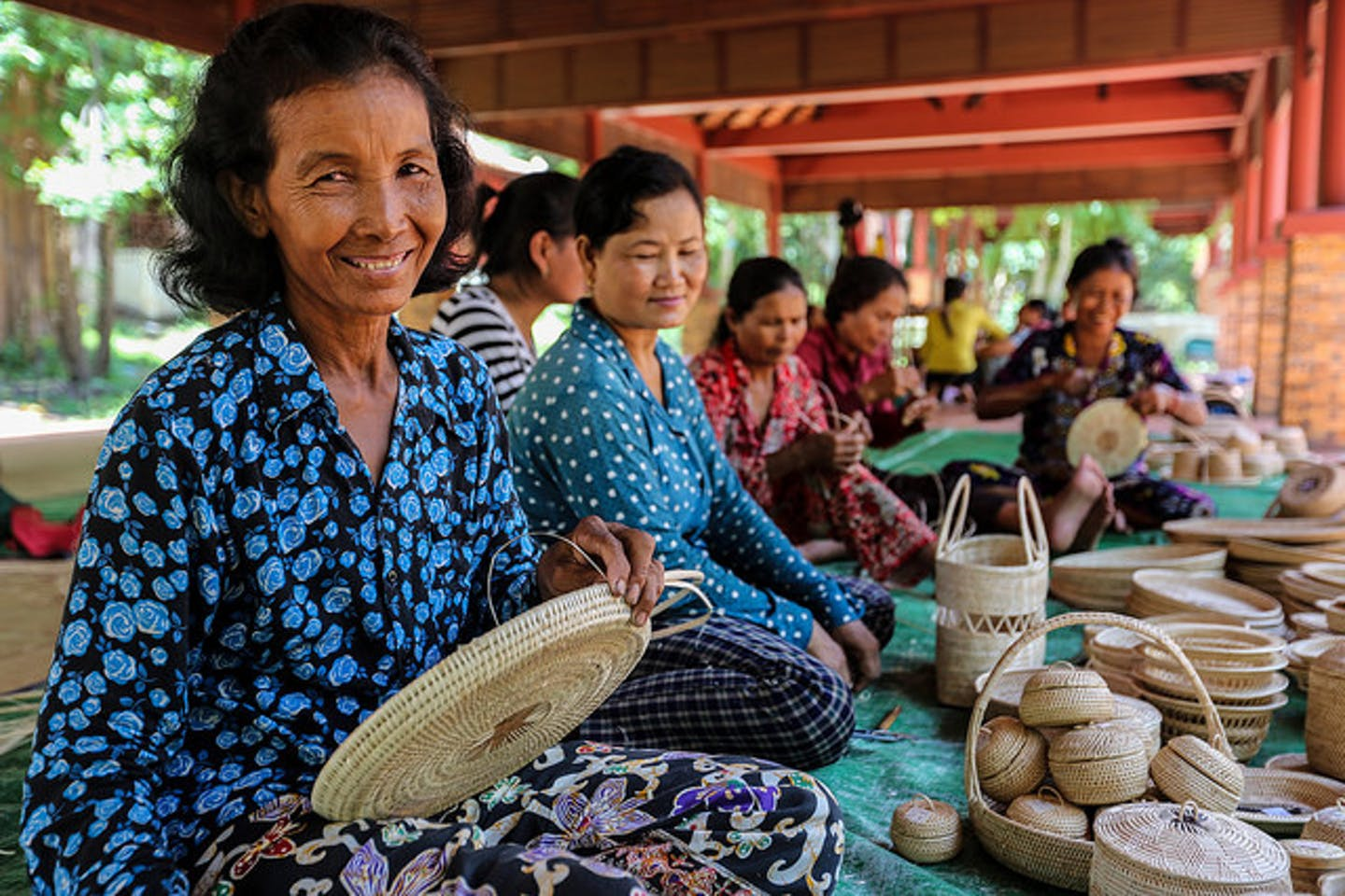 Cambodia basket weavers