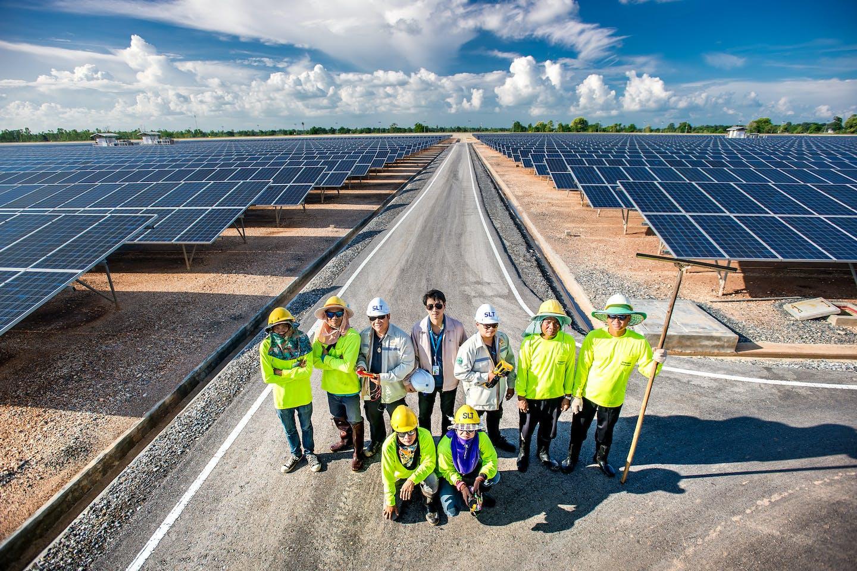 Sunny Bangchak solar farm in Thailand
