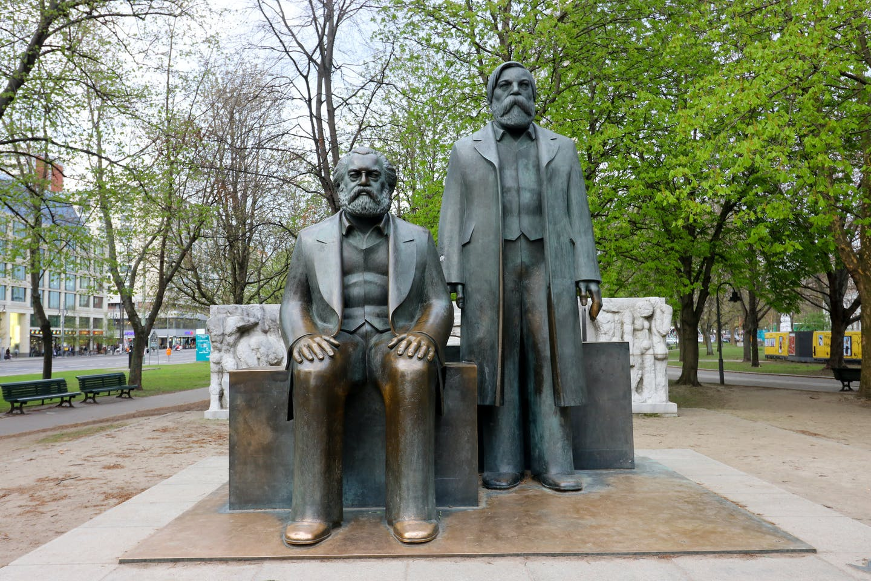 Karl Marx and Friedrich Engels statue