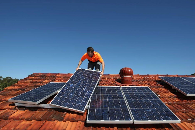 Australian homes with solar energy