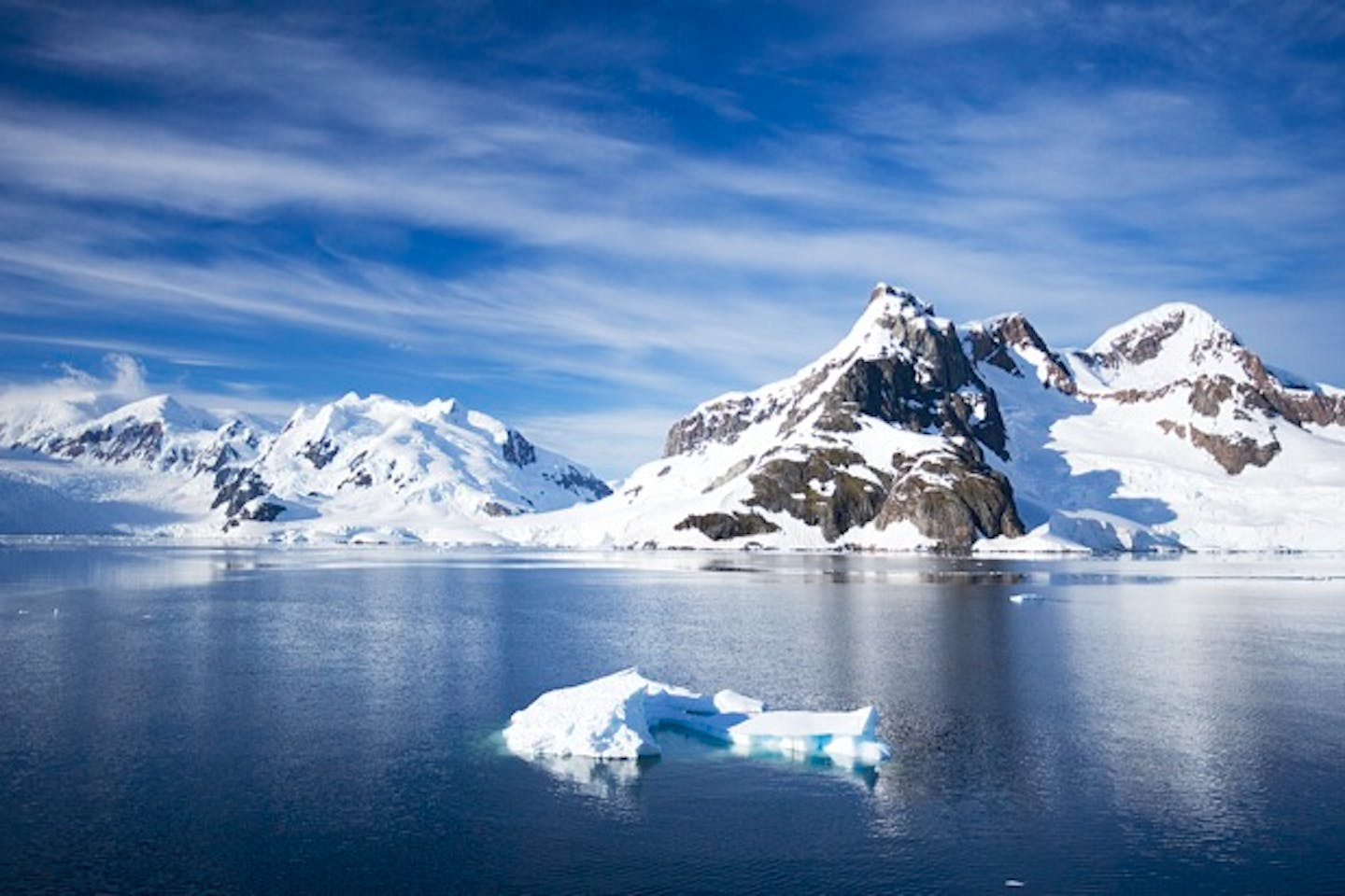 Antarctica ice and mountain