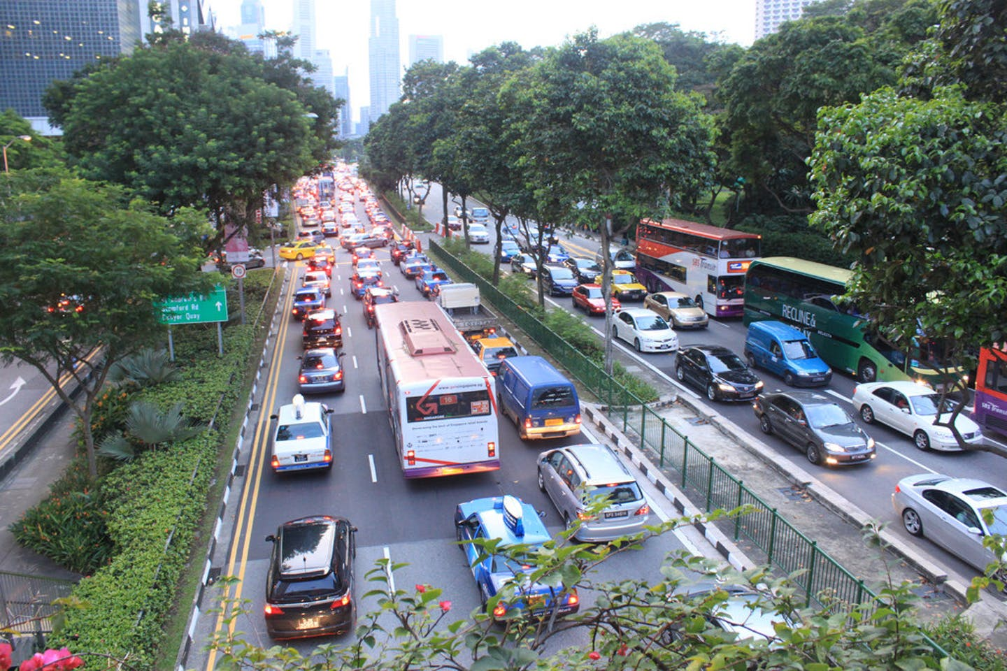 Traffic congestion in Singapore