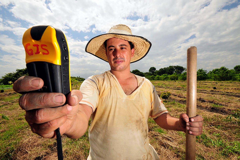 farmer with GPS