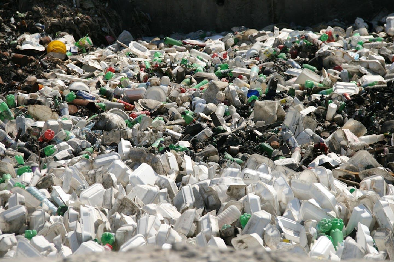 Styrofoam and plastic litter create an eyesore in Haiti