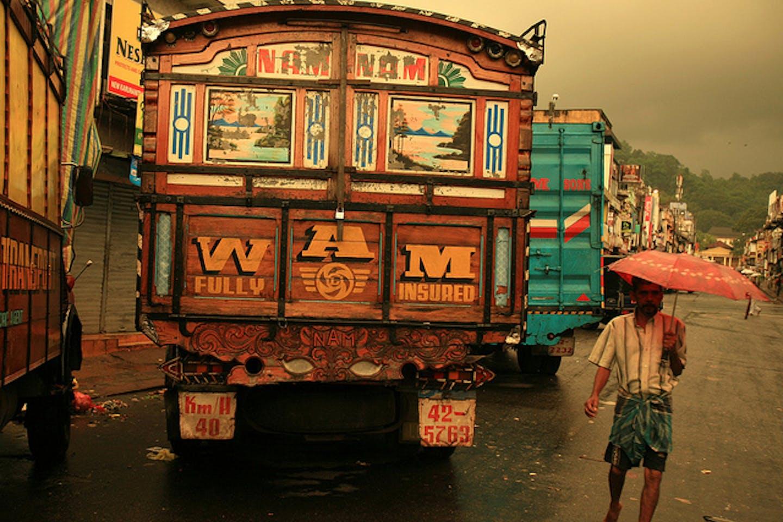 looming rainstorm in India