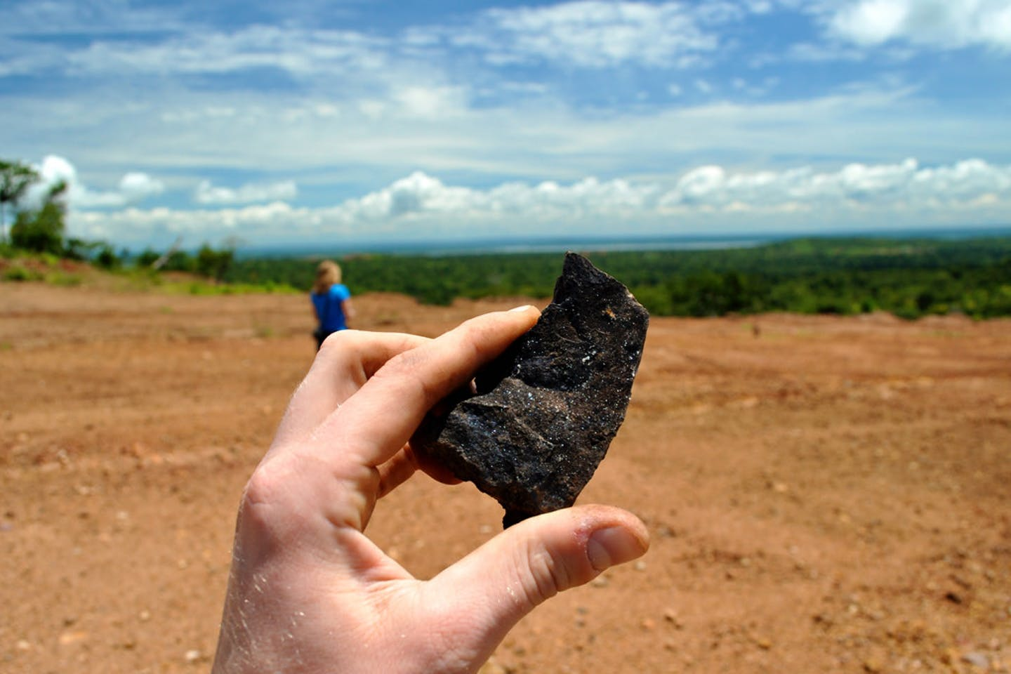 A piece of cobalt ore