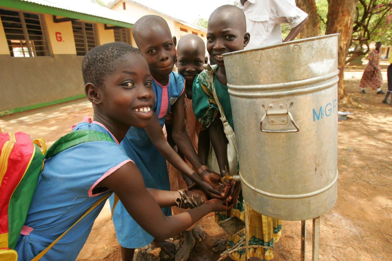 ugandan children hand wash