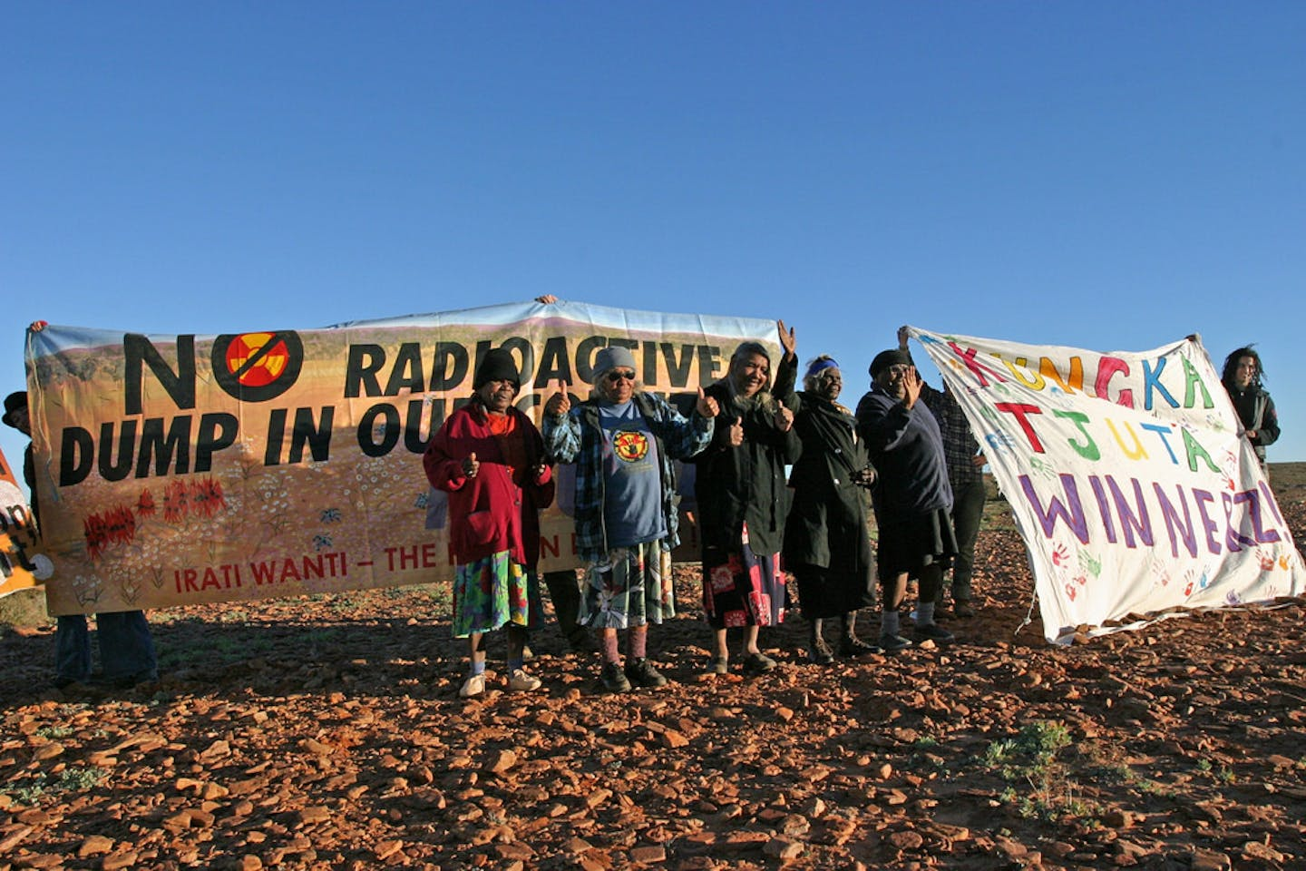 protest against nuclear waste