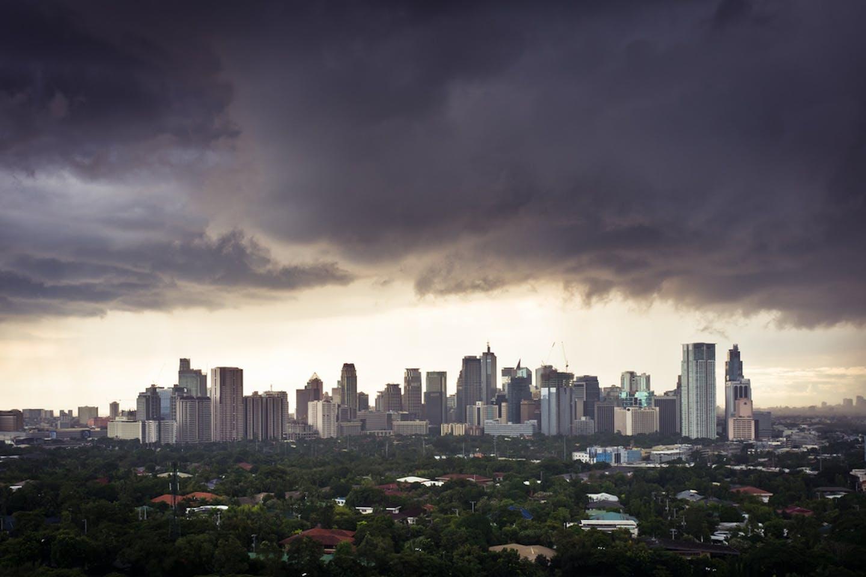Makati skyline before a storm