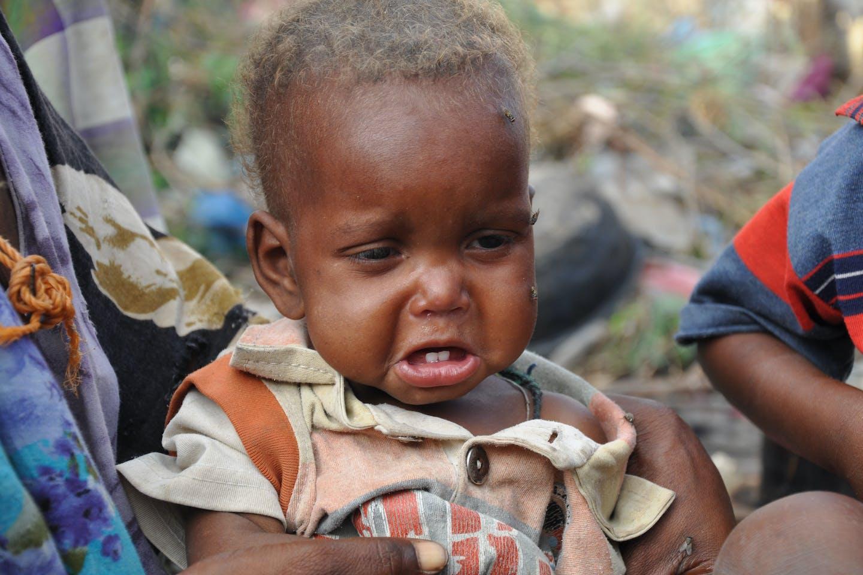 Somali child in camp