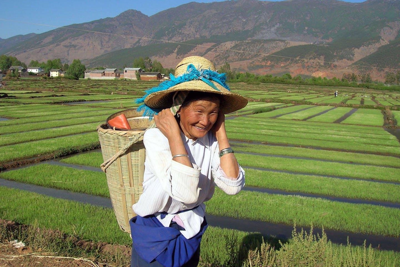 A rural farmer in Yunnan, China