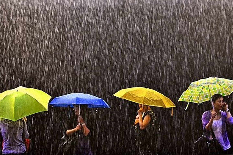 tropical downpour in HK
