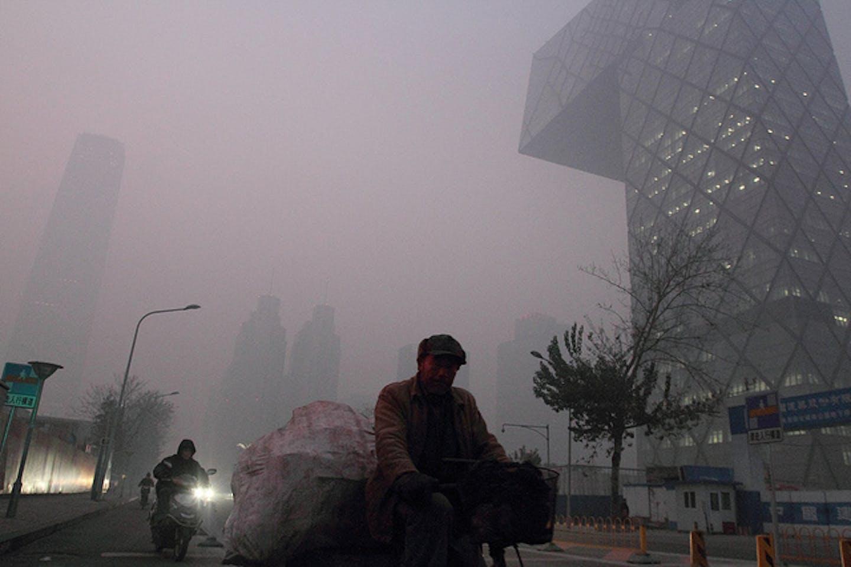 smoggy Beijing