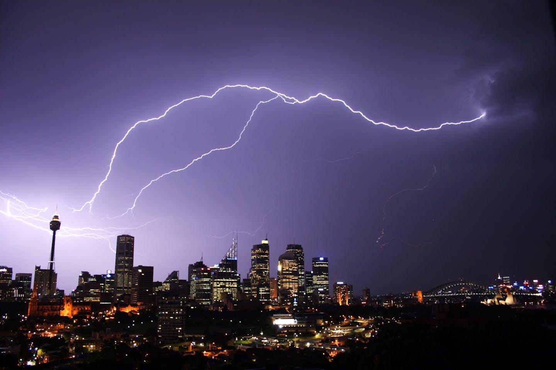 sydney lightning strike