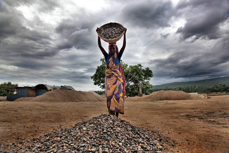 woman stoneworker in Bangladesh