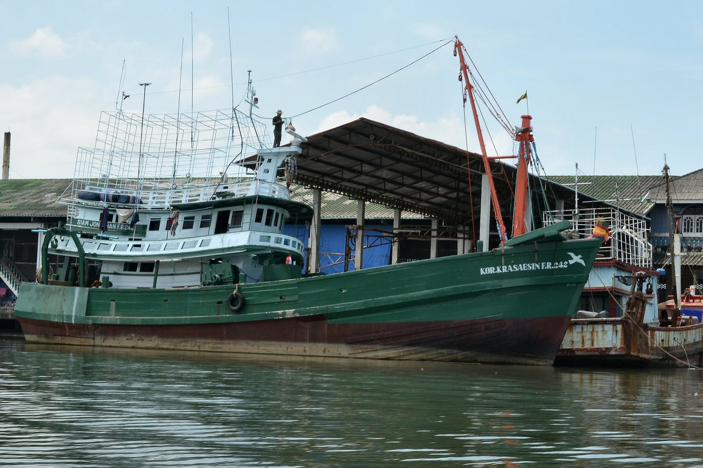 thai fishing vessel moored