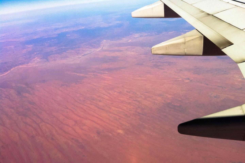 plane australia desert