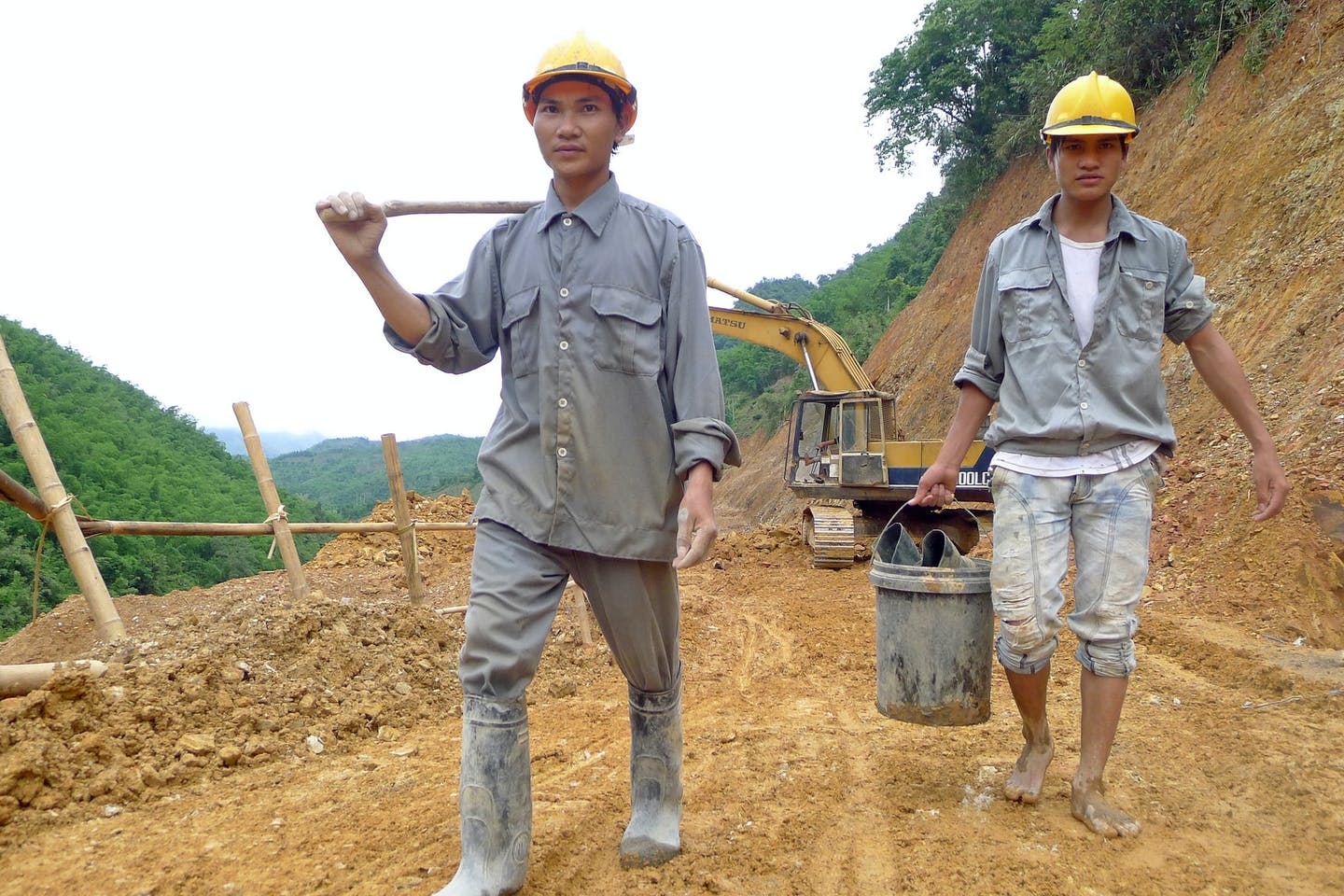 Trung Son Hydropower Project,Construction site, Mai Chau district, Vietnam. Photo: