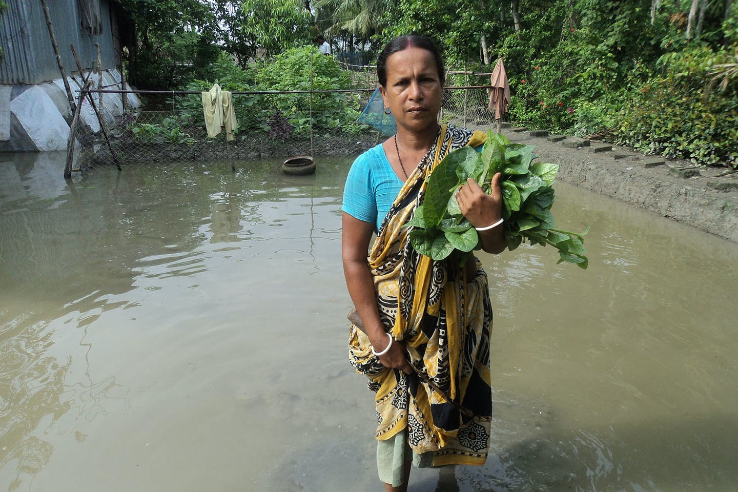 a woman in Bangladesh living on the frontline of climate change