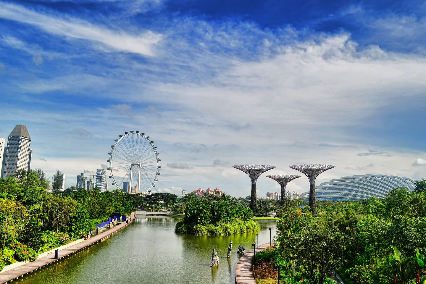 A view of Singapore's Marina Bay area