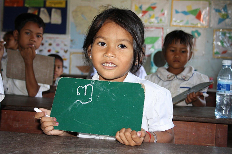 Cambodia school girl