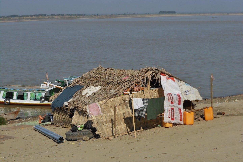 shanty in Irrawaddy