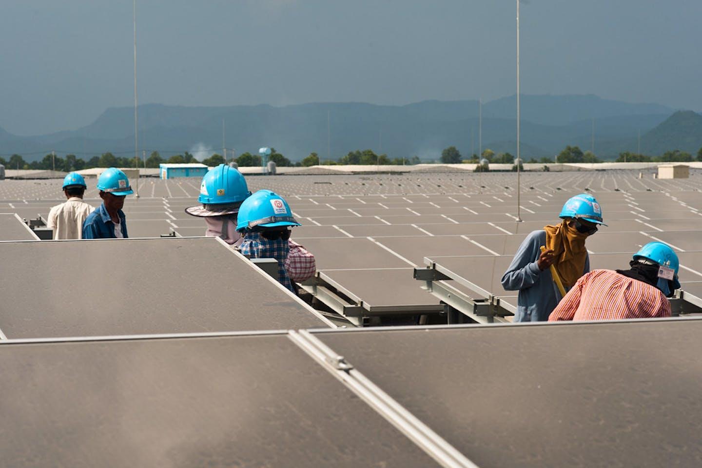 Lopburi Solar Power Plant in Thailand