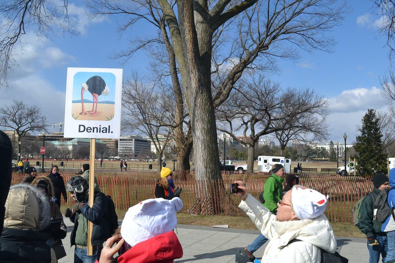 climate denial rally