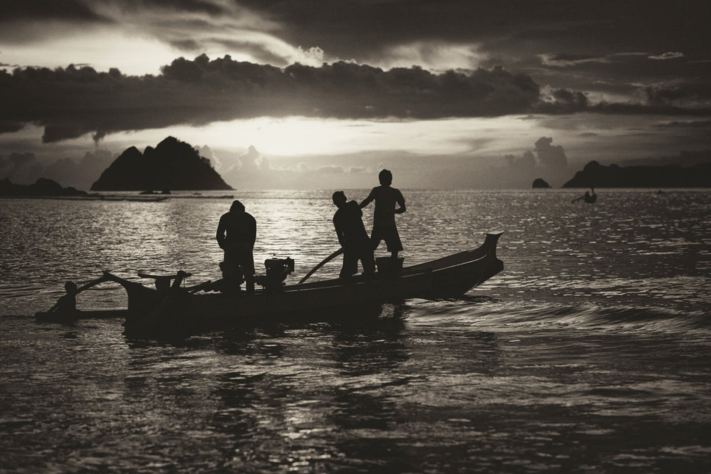 fishermen lombok indonesia
