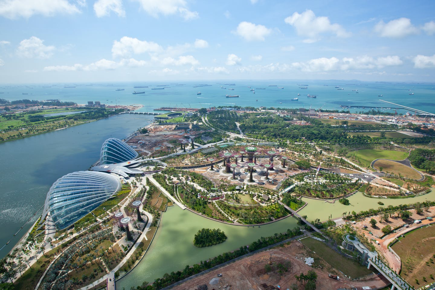 gardens by the bay aerial