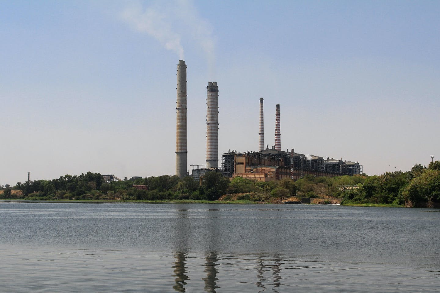 Coal fired power plant along the Chambal River in Rajasthan
