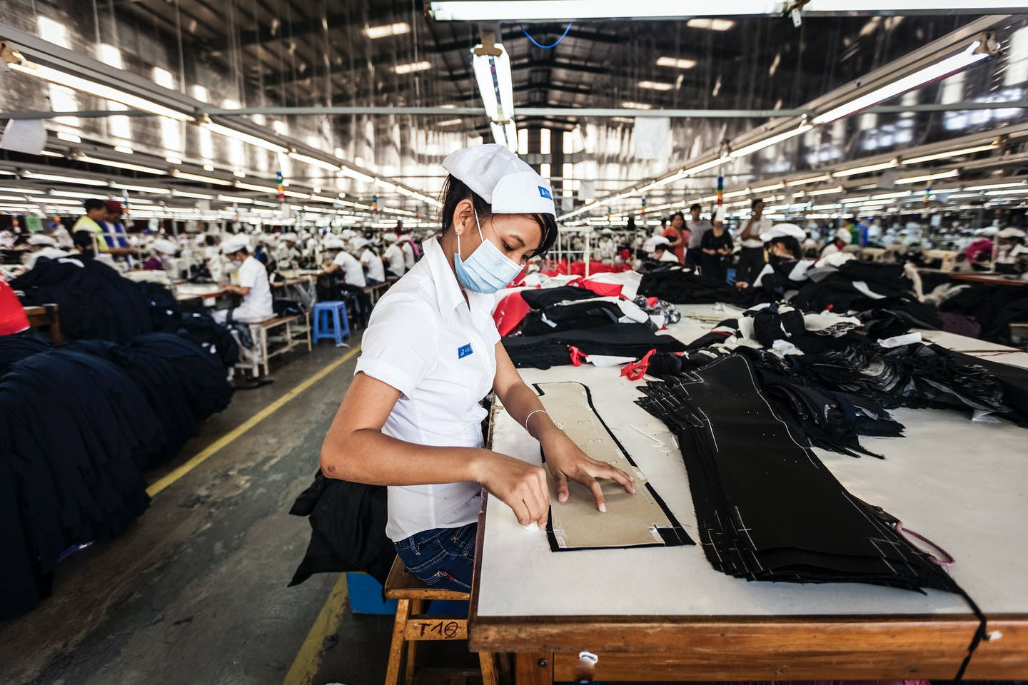 A garment factory worker in Ho Chi Minh City, Vietnam.