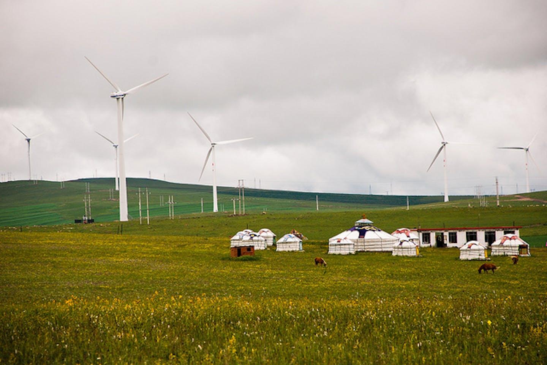 wind farm in remote city in China