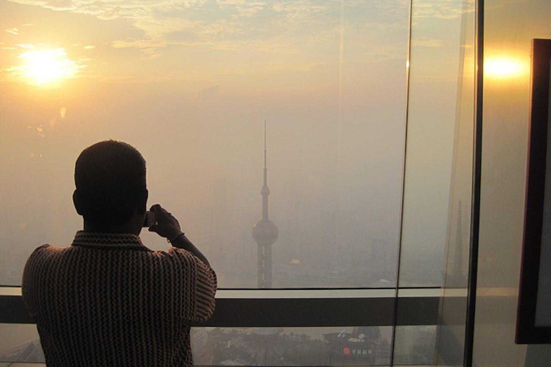 smog choked shanghai