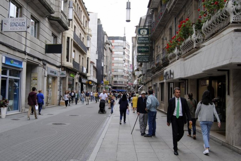 car-less streets of Pontevedra