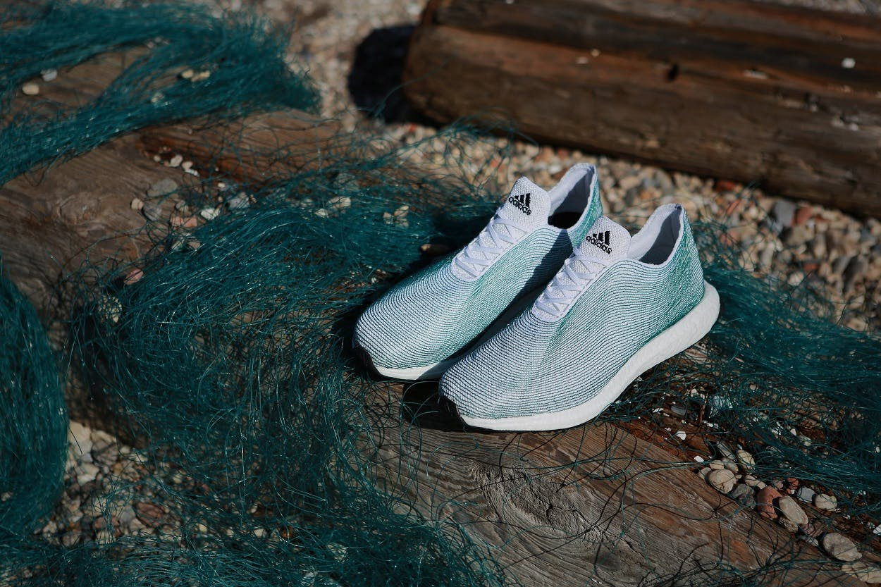 adidas unveils shoes made from ocean