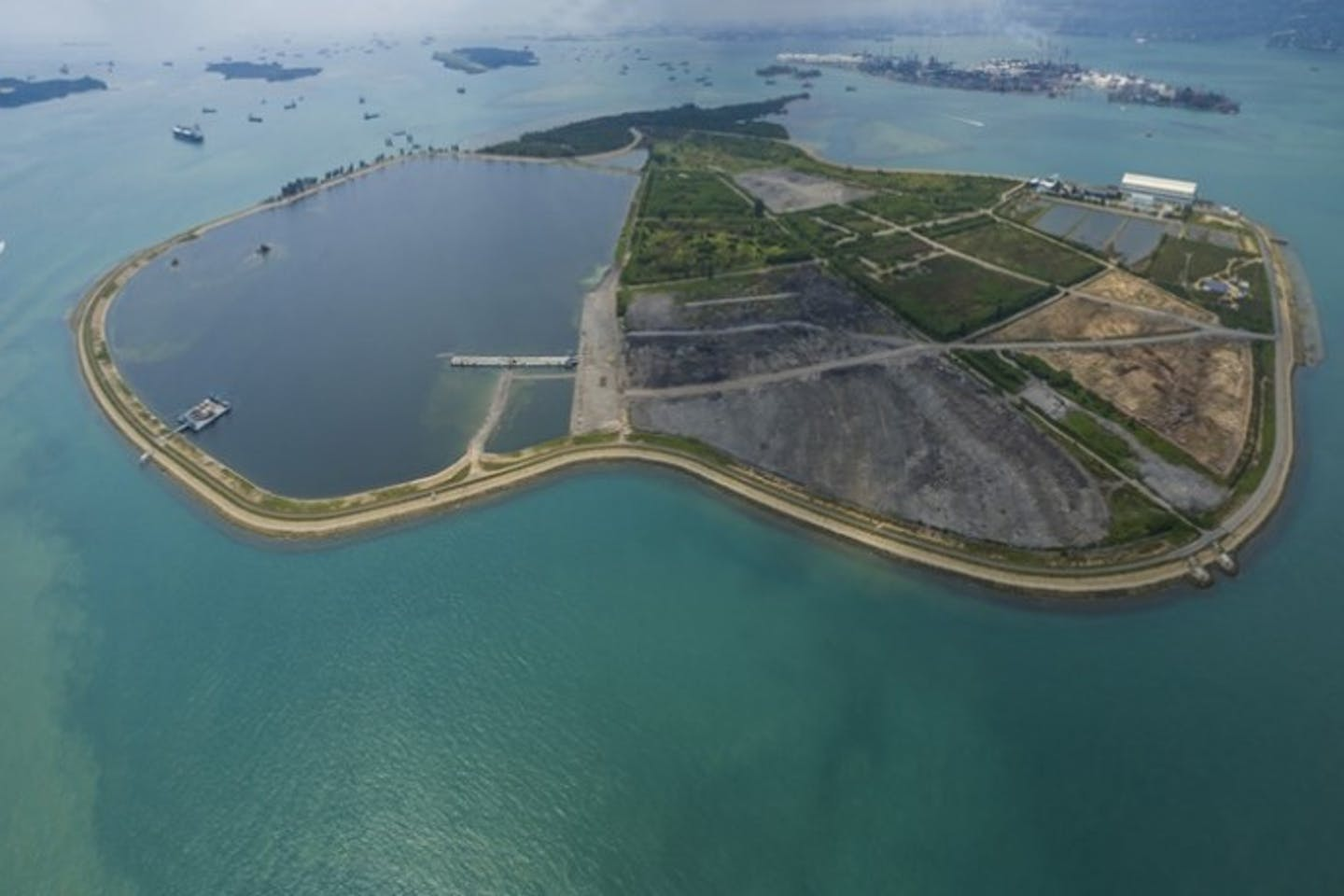 Singapore's only landfill, the purpose-built trash island of Semakau