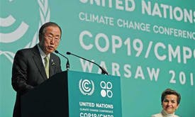 Ban says people feel 'planet's wrath' over warming