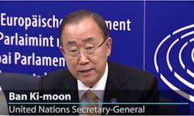 UN chief urges European Parliament to approve process on Paris Agreement ratification