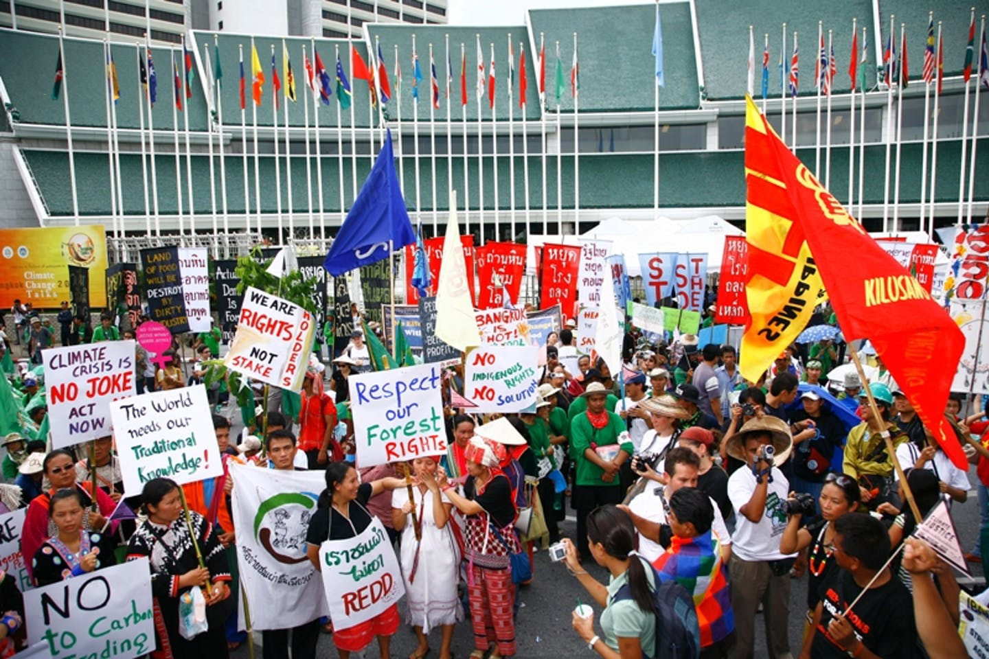 A protest in Bangkok in 2009