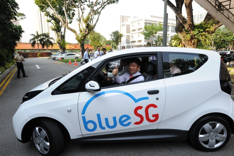 EV car-sharing programme, BlueSG