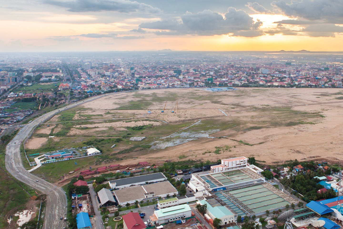 What used to be Boeung Kak lake in Phnom Penh before it was filled in.