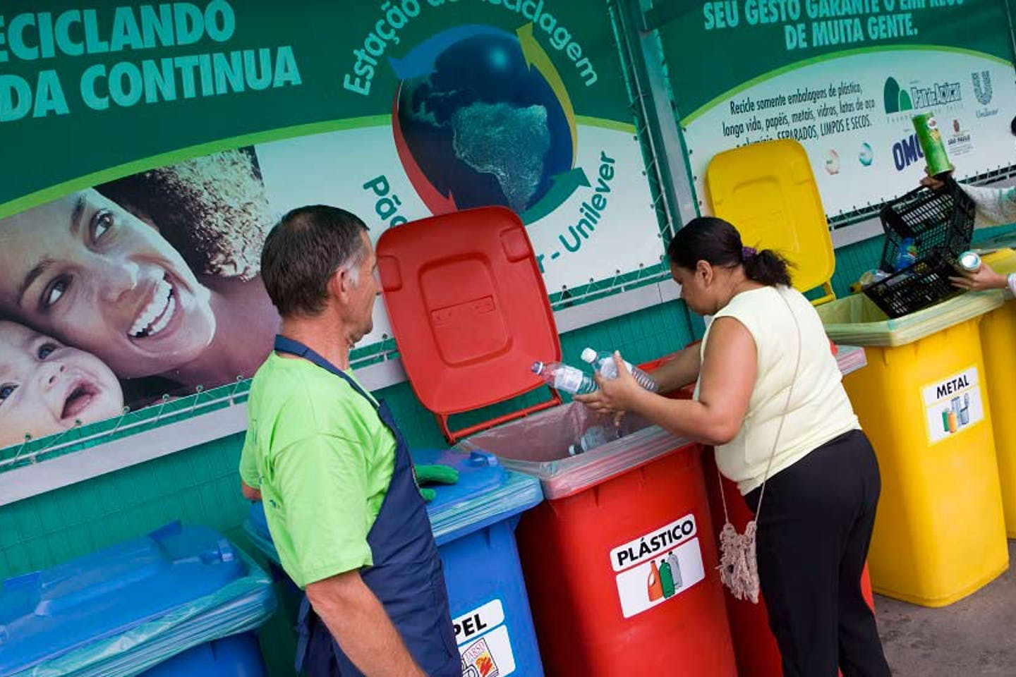 Unilever recycling drop-off point