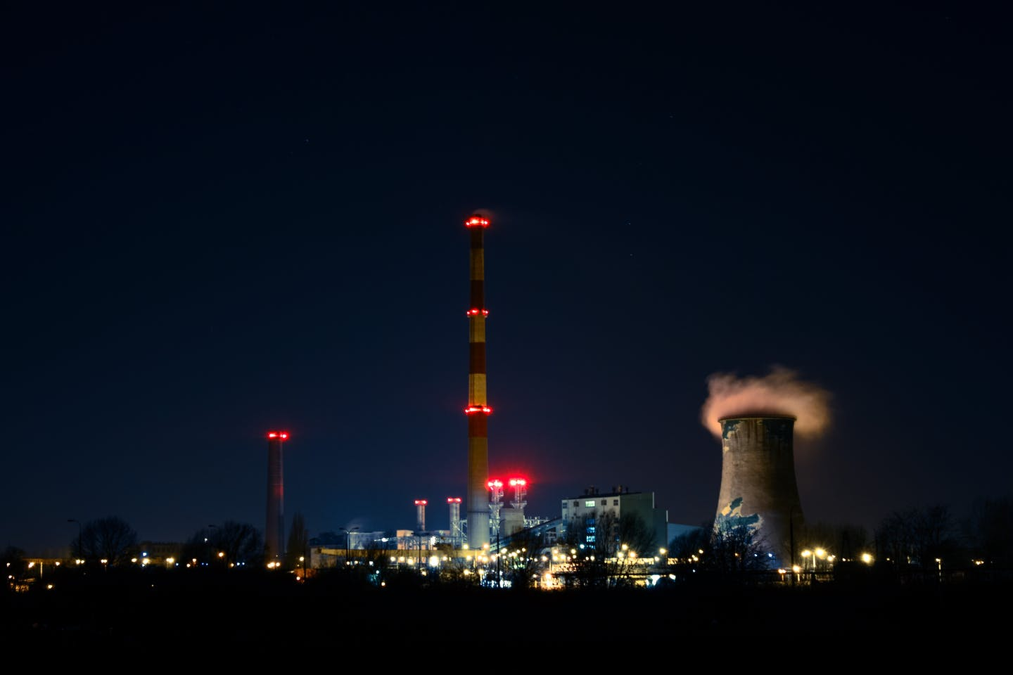 emissions from a power plant